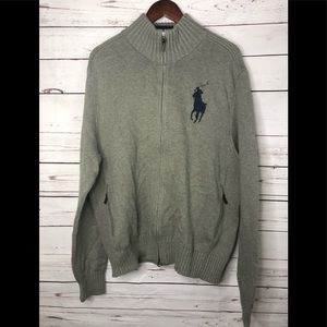 Polo Ralph Lauren full zip sweater with large logo